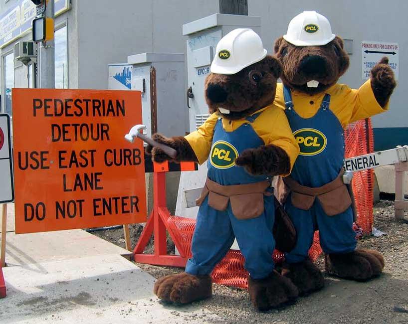 PCL Construction Mascot